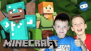 Minecraft House Building Gameplay