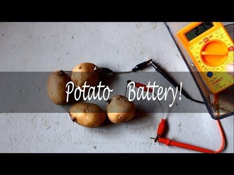 how to make potato powered light bulb