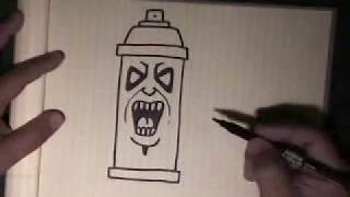 easy step by step how to draw a simple spraycan character with my. Black Bedroom Furniture Sets. Home Design Ideas