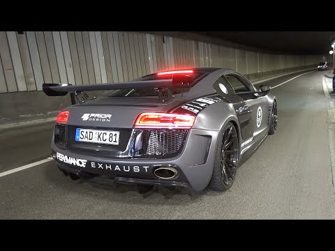630HP Audi R8 V10 w/ Per4mance Exhaust - Brutal EXHAUST Sounds!