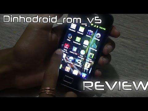 Samsung Galaxy Ace Dinhodroid rom v5 Review