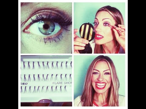 How to apply Individual lashes! Inexpensive drugstore brand review.