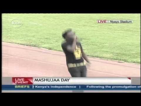 Bahati performs his song Barua during the Mashujaa Day Celebration