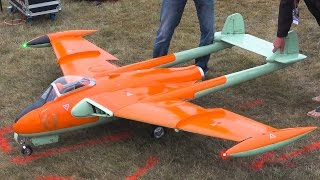 DE HAVILLAND DH-112 VENOM GIANT SCALE TURBINE JET RC MODEL / Jet Power Fair 2016