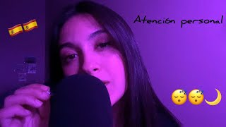 ASMR ES | ATENCIÓN PERSONAL 🇪🇸 Visual Triggers, Mouth Sounds, Trigger Words | ASMR FR 😴🌙💜