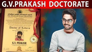 GV Prakash honoured with second doctorate for contribution to the field of music