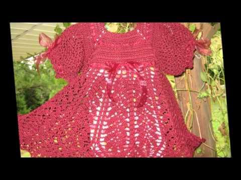 Вязание крючком платье с медальонами