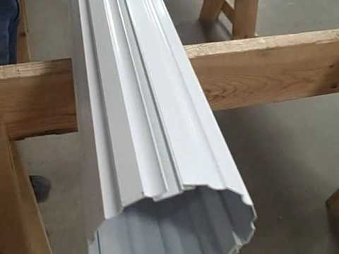 Aluminum Columns 6 Quot Round Fluted Youtube