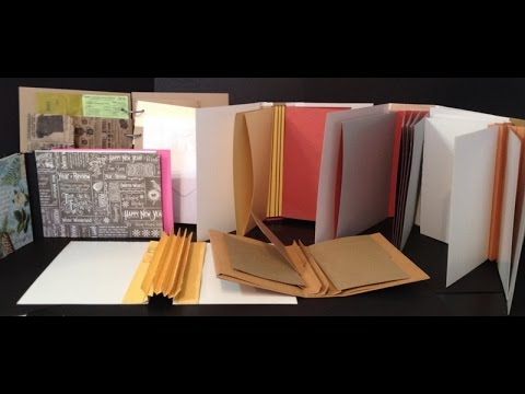 How To Make Hinges, Spines And Binding For Mini Albums And Journals video