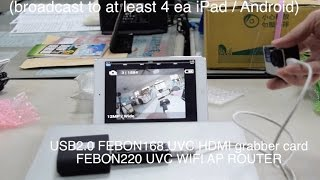 Gopro Hero 4 display on iPad by UVC WIFI AP ROUTER.