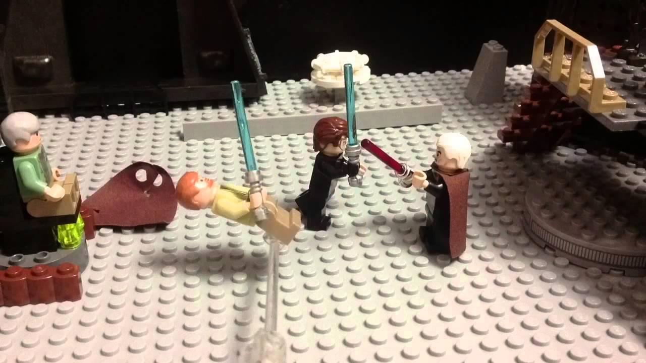 Lego Star Wars-Count Dooku vs Anakin and Obi Wan Scene ...