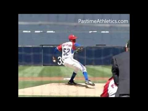 Aroldis Chapman NASTY FASTBALL Pitching Mechanics Slow Motion Baseball Instruction Velocity MLB
