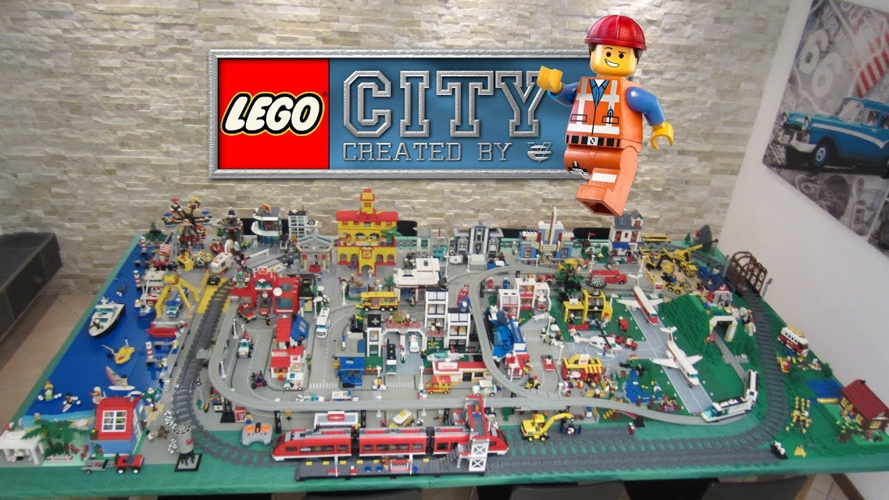 Lego Citt 224 City Classic Town Style Diorama Layout