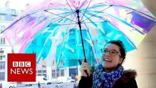 CES 2017: Umbrella sends distress alert when lost - BBC News