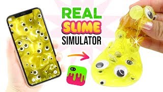 Making REAL Slime Simulator Slimes!!! Weird VIRAL Slime App Test!