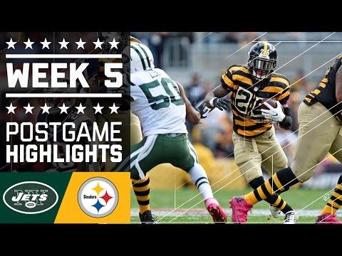 Jets Vs Steelers Nfl Week 5 Game Highlights