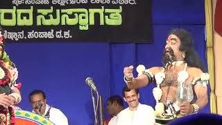 Yakshagana -- Vamsha vahini - 8 - Seetharam kumar kateel as Ugra bhairava - Hasya