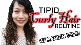 Tipid Curly o Kulot Hair Routine TAGALOG FILIPINA PINAY + Hangin Test