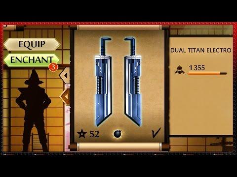 Shadow Fight 2 New Dual Titan's Electro Sword