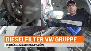 Kraftstofffilter - Dieselfilter wechseln VW-SEAT-SKODA-AUDI 1.9 / 2.0 TDI