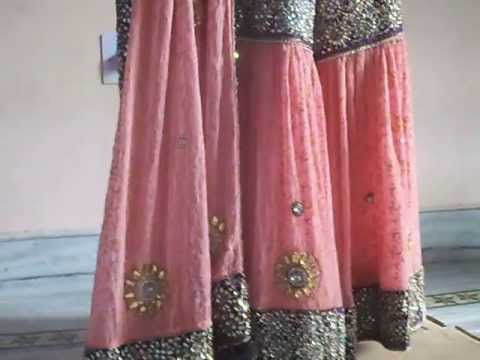 Peach Purple bridal gharara gharara with Kundan work peach bridal...