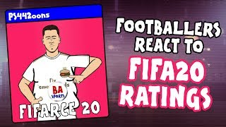 🎮Footballers React to FIFA 20 Ratings!🎮 (Feat Messi, Neymar, Ronaldo, Salah and more! PARODY demo)