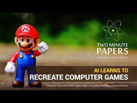AI Learns To Recreate Computer Games | Two Minute Papers #195