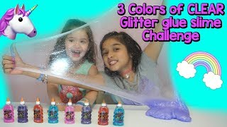 3 colors of Glue Slime Challenge (Part 2)
