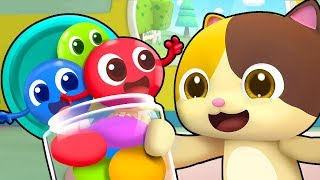 Colored Candy Brothers | Colored Candy Turns White | Christmas Song | BabyBus