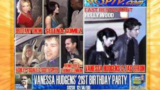 VANESSA HUDGENS 21ST BIRTHDAY PARTY ZAC EFRON