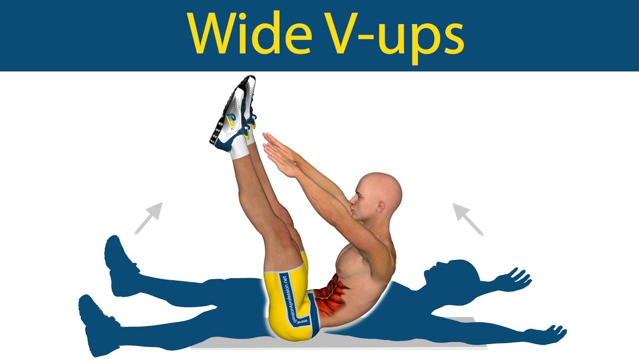 V Ups Abs Series Wide V-Ups