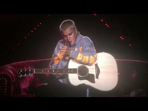 Justin Bieber - Cold Water live in Perth and intro