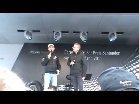 Nico Rosberg interview Mercedes stand German GP 2011