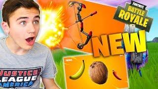JE DÉCOUVRE L'ARC EXPLOSIF ET TOUS LES NOUVEAUX FRUITS SUR FORTNITE BATTLE ROYALE !!! - Néo The One