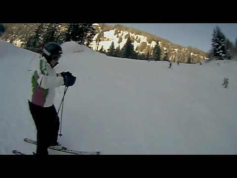 Victoria goes nuts on the piste