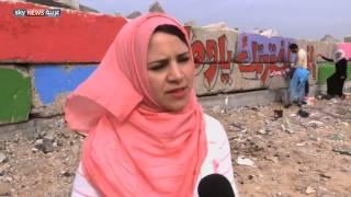 فنانو غزة يغطون بالألوان سواد الحرب