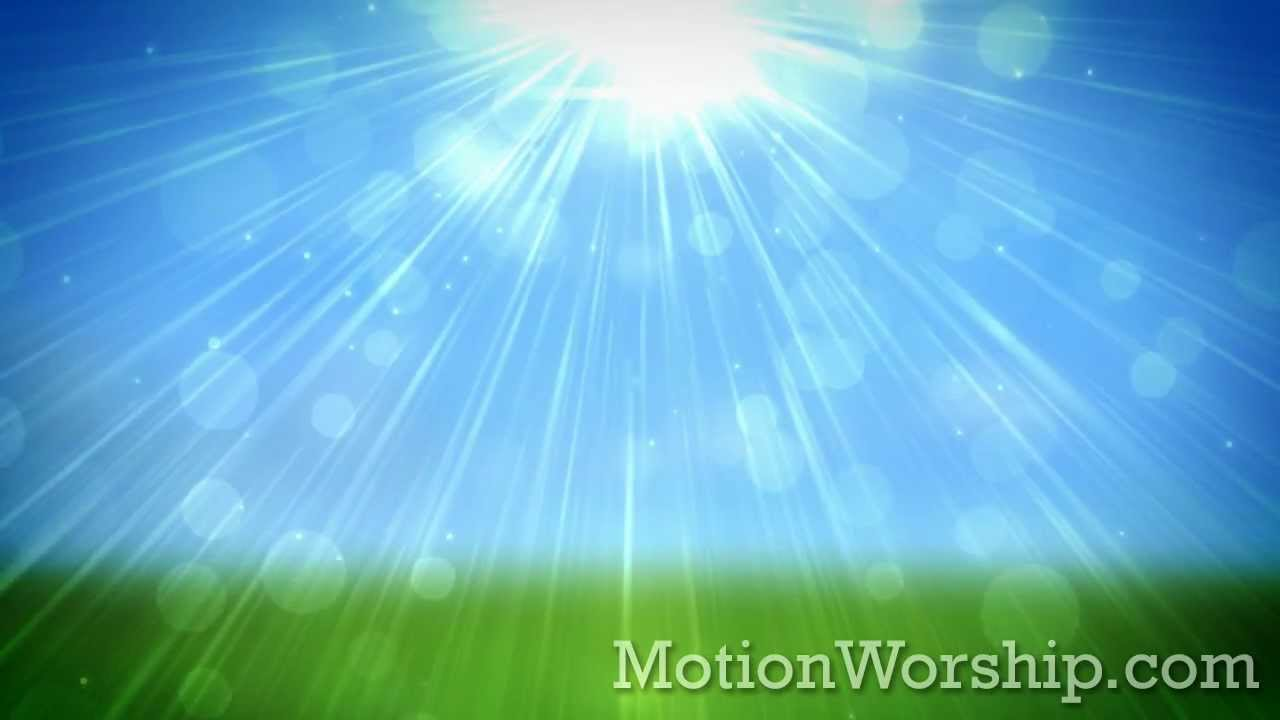 spring glow blue hd looping background by motion worship