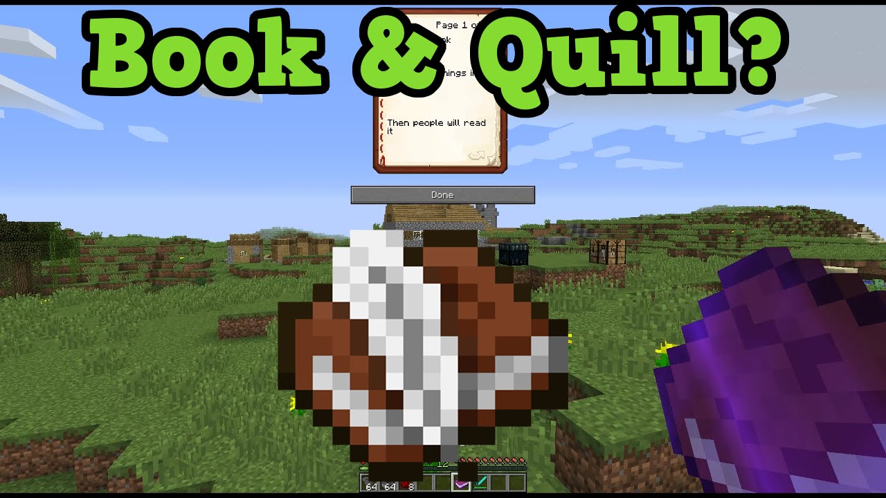 How To Make A Book Minecraft Pe : Minecraft book and quill xbox