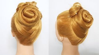 Hairstyle for long hair with twist braid | Updo tutorial | Hairstyles for girls