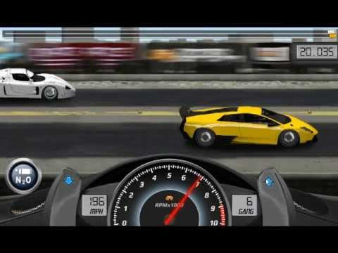 Drag Racing Lamborghini Murcielago LP 670-4 5V level 8 - 1 mile race against  MC12 Corsa