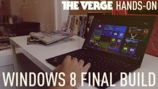 Windows 8 final build hands-on