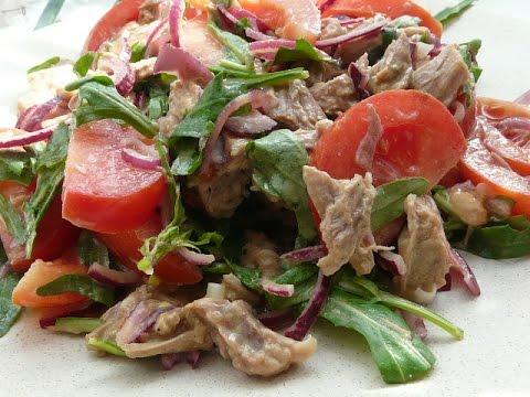 Мясные салаты рецепты с с говядиной