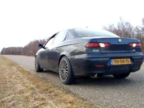 Alfa Romeo 156 2.0 16v TwinSpark K&N Sportfilter, Whitehooker exhaust passing by