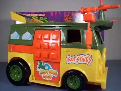 Vintage 1988 Teenage Mutant Ninja Turtle Party Wagon Review TMNT Turtle van