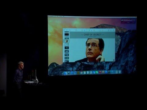 Stephen Colbert dials into Apple event