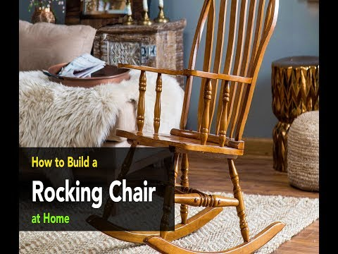 DIY : How to build a wooden rocking chair at home - Download Free 440 page woodworking guide