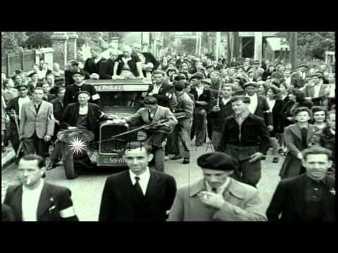Women Collaborators With Shaved Heads Driven Through Parisian Streets In France D...hd Stock Footage video