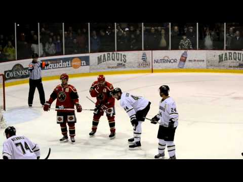 Fin de match / End of game Saguenay - Windsor, LNAH, 06-01-12