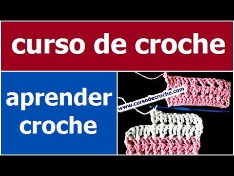 CROCHE AULA 06 PONTO ALTO CRUZADO SIMPLES (HD)