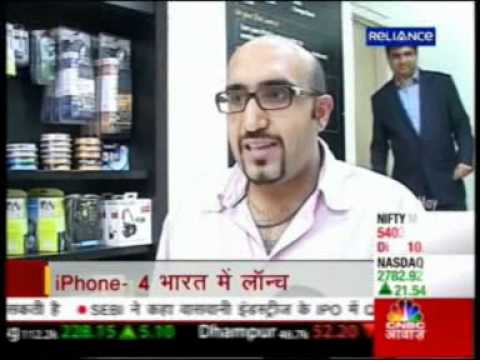 Reliance iStore India - iPhone 4 Launch Midnight - May 2011 - CNBC Awaaz